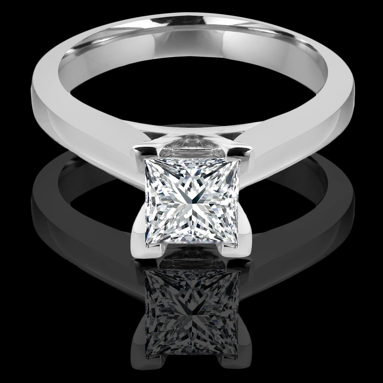 Princess Cut Engagement Ring   Bijoux Majesty