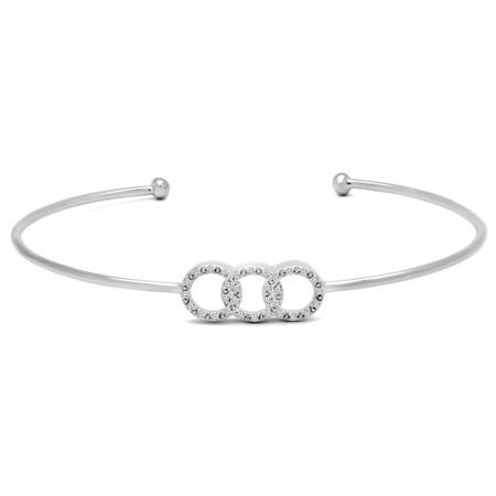 Round Cut Diamond Bracelet 14K White Gold  - #HDBN91179