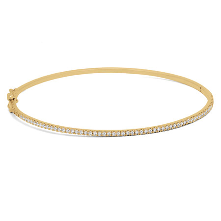 Round Cut Diamond Bracelet 14K Yellow Gold  - #HDBN1099