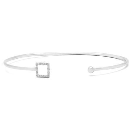 Round Cut Diamond Bracelet 14K White Gold  - #RDBN1203