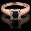 Princess Cut Black Diamond Solitaire 4-Prong Trellis-Set Engagement Ring in Rose Gold - #SPR2066-PR-BLK-R