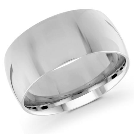 Men's 10 MM white gold dome band (MDVB0084) - #J-100-020G