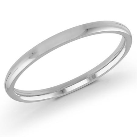 Men's 2 MM white gold dome comfort fit band (MDVB0087) - #J-100-220G