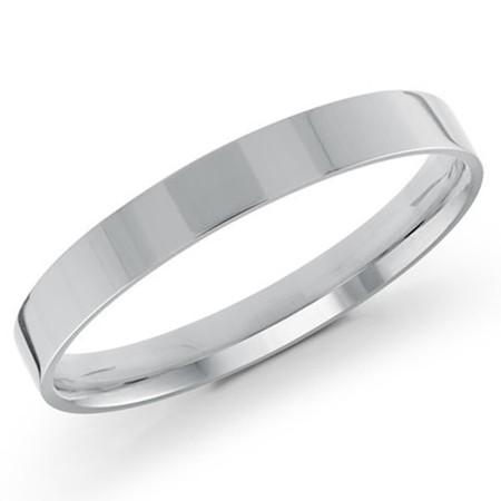 Men's 2 MM flat comfort fit white gold band (MDVB0149) - #J-105-220G