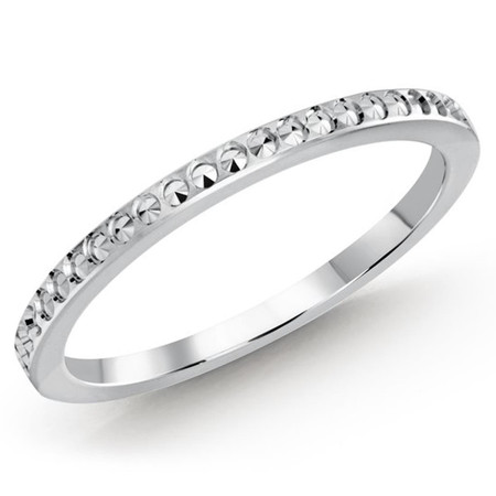1.5 MM dot design white gold matching band (MDVB0493) - #MBJ-001W