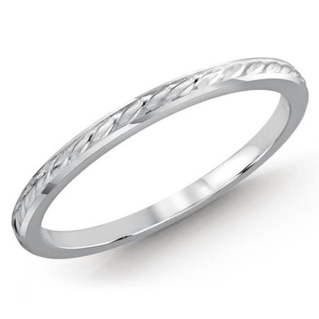 1.5 MM braid design white gold matching band (MDVB0499) - #MBJ-007W