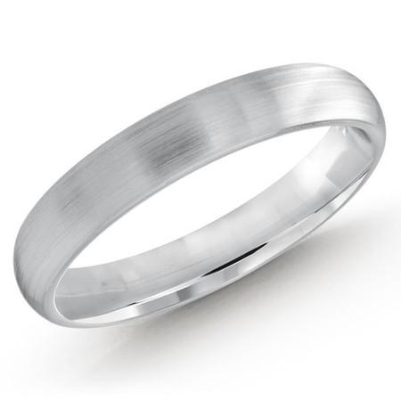 3 MM white gold high polish matching band (MDVB0529) - #MBJ-022W
