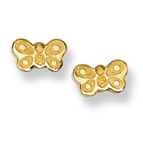 Butterfly Stud Baby Earrings in 14K Yellow Gold - #AD-072