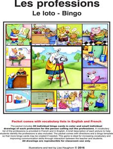 Les professions Le loto - Bingo e-Lesson