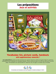 Les prépositions Jeux et activités e-Lesson