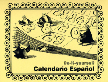 Calendario Espanol