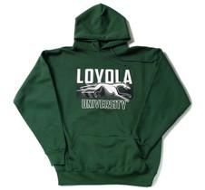 "Loyola ""Duster"" 9.5 oz. Green Medium Weight Hoodie"