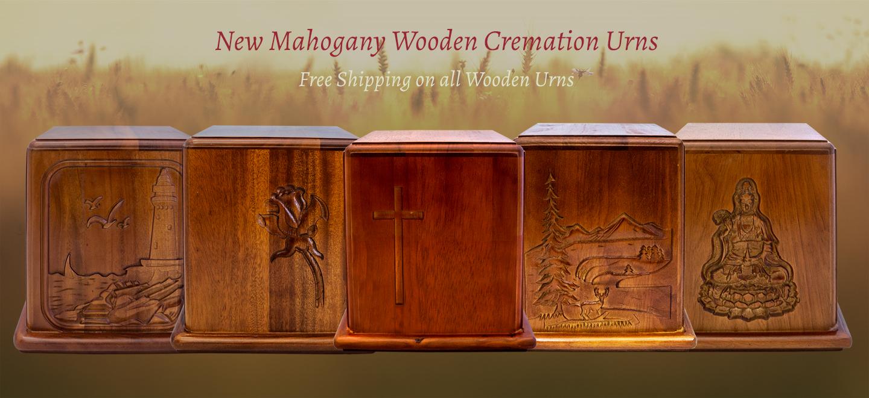 Mahogany Wood Box Cremation Urns