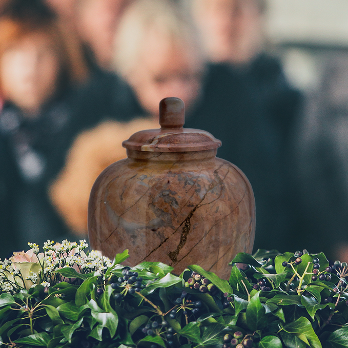 Large Rosemary Onyx Marble Cremation Urn for Ashes