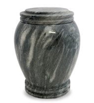 """Everlasting Grey Marble Cremation Urn for Ashes  Dimensions: 8"""" W x 8"""" D x 11"""" H  Weight: 24 lbs  210 Cubic Inches"""