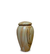 Teakwood Marble Serenity Keepsake Urn For Ashes - Small Keepsake