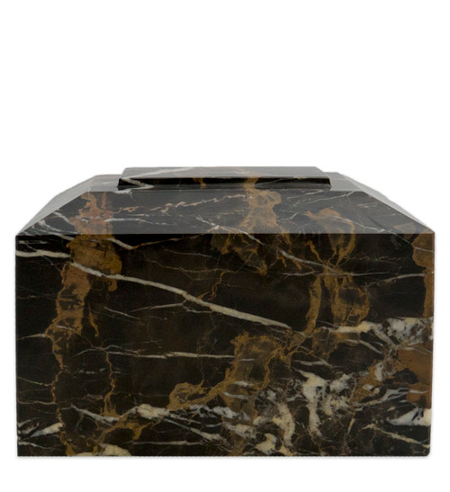 Contemporary Golden Portoro Marble Urn for Ashes - Full Size (Adult)