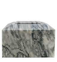 Contemporary Grey Marble Cremation Urn for Ashes - Full Size (Adult)