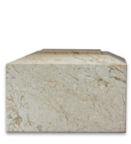 Contemporary Natural Beige Marble Urn For Ashes - Full Size (Adult) Front VIew