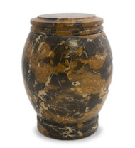 Everlasting Golden Portoro Marble Cremation Urn for Ashes - Full Size (Adult)