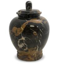 Eternal Golden Portoro Marble Urn for Ashes - Full Size (Adult)