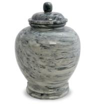 Eternal Cloud Grey Marble Urn For Ashes - Full Size (Adult)