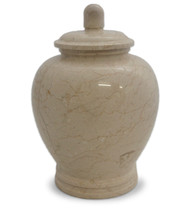Eternal Natural Beige Marble Urn for Ashes - Full Size (Adult)