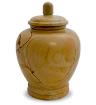 Eternal Classic Teakwood Marble Urn For Ashes - Full Size (Adult)