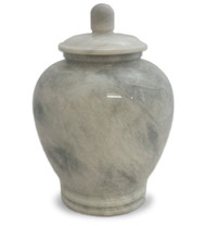 Eternal White Marble Cremation Urn For Ashes - Full Size (Adult)