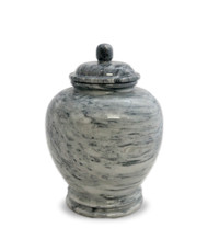Eternal Cloud Grey Marble Keepsake For Ashes - Medium