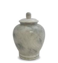 Eternal White Marble Keepsake For Ashes - Medium