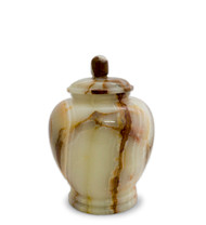 ETERNAL JADE GREEN ONYX KEEPSAKE URN FOR ASHES - SMALL