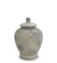 Eternal White Marble Keepsake Urn for Ashes - Small 50 Cubic Inches = Fits up to 50 Lbs Suitable for Pets