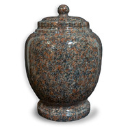 Eternal Mahogany Granite Cremation Urn For Ashes - Full Size (Adult)