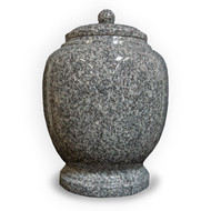Eternal Cloud Grey Granite Cremation Urn For Ashes - Full Size (Adult)
