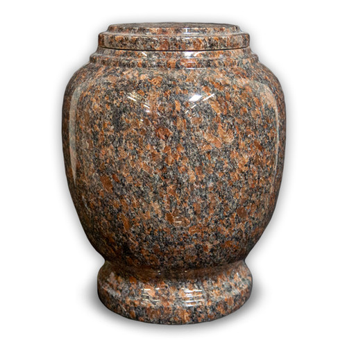 Everlasting Mahogany Granite Cremation Urn for Ashes - Full Size (Adult)