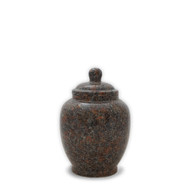 Eternal Mahogany Granite Keepsake Cremation Urn For Ashes - Small