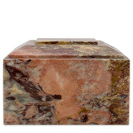 Modern Rosemary Onyx Marble Cremation Urn for Ashes - Full Size (Adult) Front View