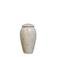 Serenity Natural Beige Keepsake Cremation Urn For Ashes