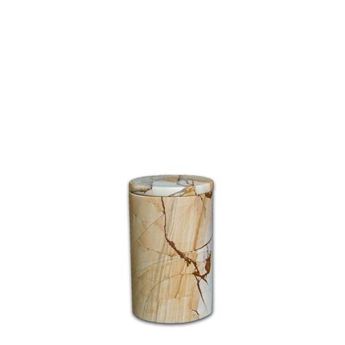 Toscano Burma Teakwood Keepsake Cremation Urn For Ashes - X Small