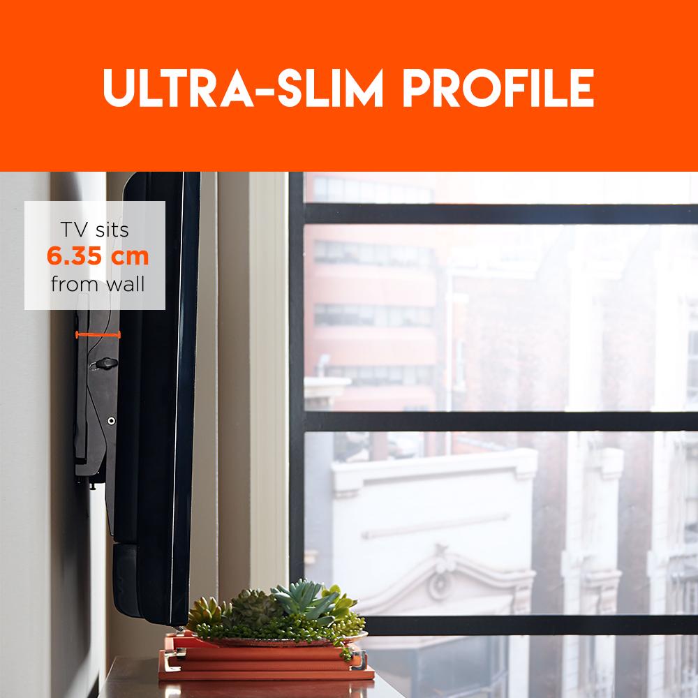 slim profile designed tv mount