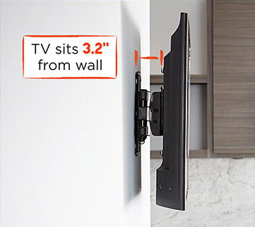 created with you in mind, it has a slim mount so you can push your screens closer to the wall