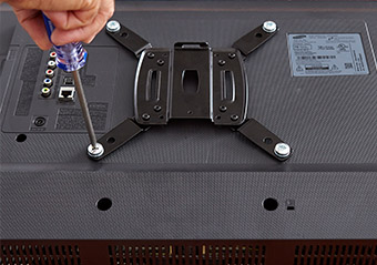 by connecting the brackets to your computer monitor or tv, you are well on the way to greatness