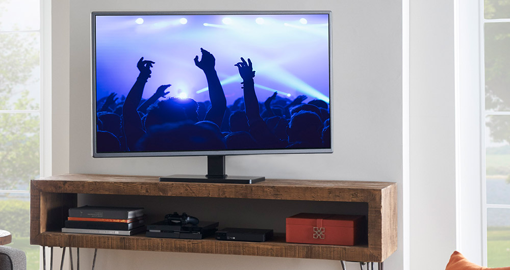 Can't mount you TV? Try upgrading the stand to improve stability, increase safety, and add swivel with height adjust