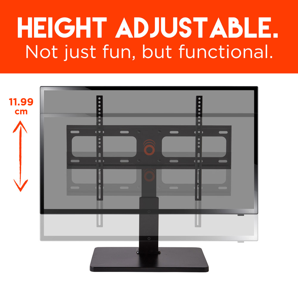 Height adjustable up to almost 12 cm