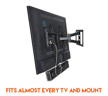 Built to accomodate mounting a soundbar to almost every brand of tv and tv mount