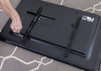start upgrading your tv by putting brackets on the back of your TV, all brands are compatible including Sony, Toshiba, and Vizio