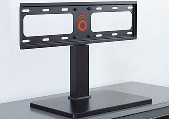 Build the base of the TV with the included hardware, now you are ready to attach your Panasonic or TLC tv