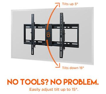 Tilting TV Wall Bracket Easily Tilts 15 Degrees