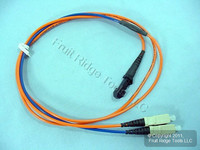 1M Leviton Fiber Optic Multi-Mode Duplex Patch Cable Cord MT-RJ DX-SC 498MC-M01